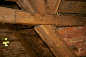 online-Coaching Torhaus Kotelow, Fachwerk Konstruktion der Dach-Verkehlung